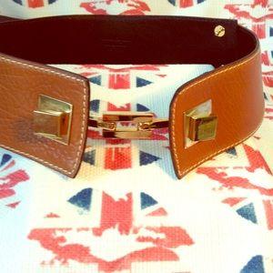 Salvatore Ferragamo Tan Leather Belt